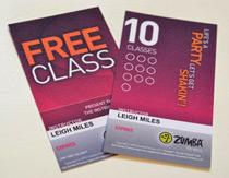 Zumba Free Class Card