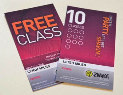 Zumba Fitness Free Class Card